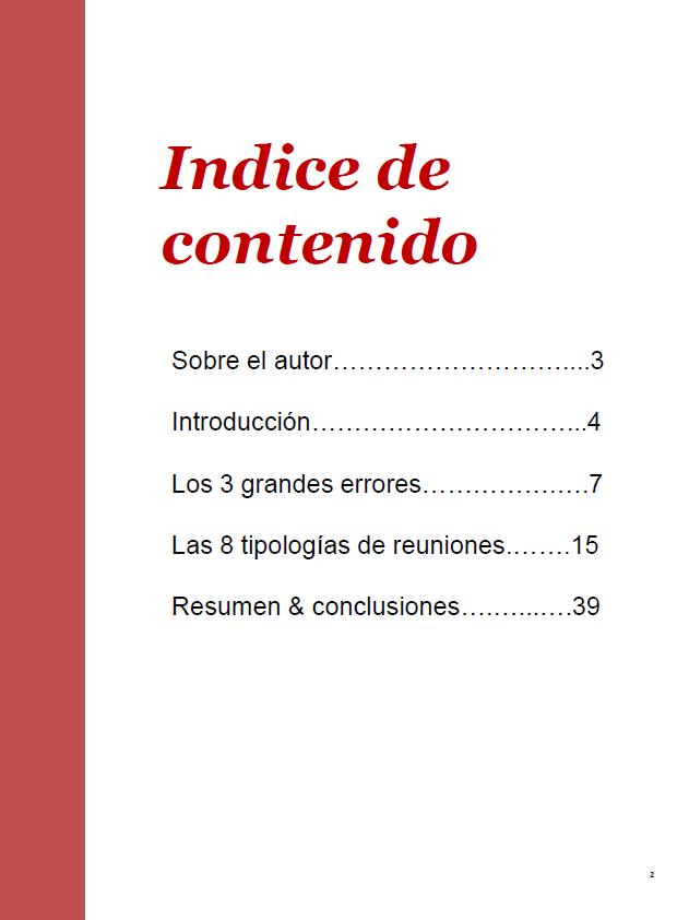 e-book reuniones indice - igostrategy